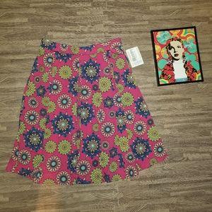 New Lularoe Pink Madison Floral Skirt Medium